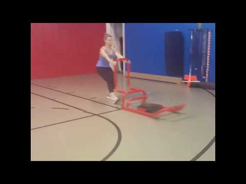 New U Fitness Kensington MD - Amy Working With The Sled