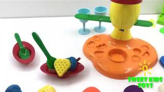 Making İce Cream on Plate With Play Dough-  Nursery Rhymes