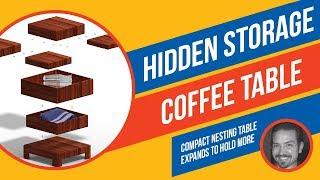 Hidden Storage Coffee Table