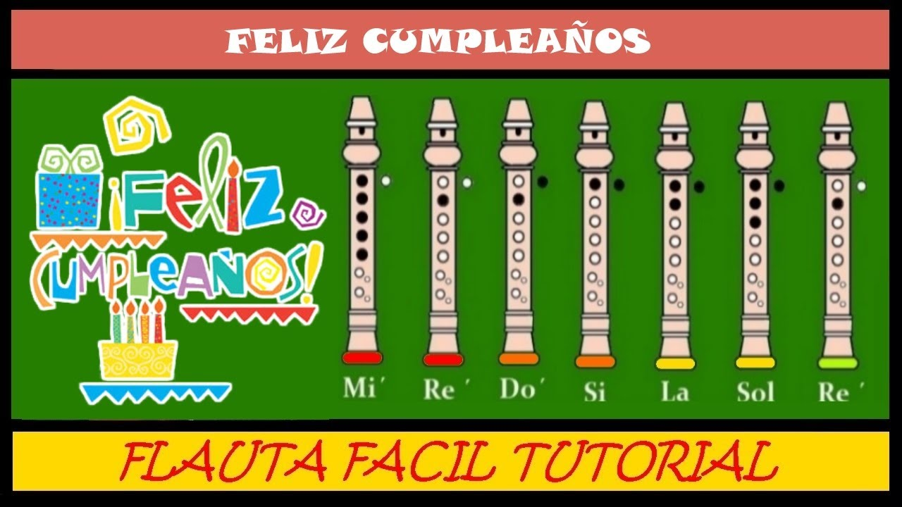 Feliz Cumpleanos Version Facil En Flauta Dulce Notas Guia Animacion