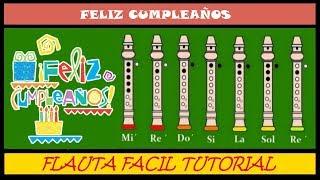 Feliz Cumpleaños versión fácil en Flauta Dulce+(Notas/Guia/Animación) Tutorial