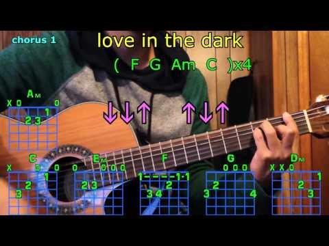 love in the dark adele guitar chords