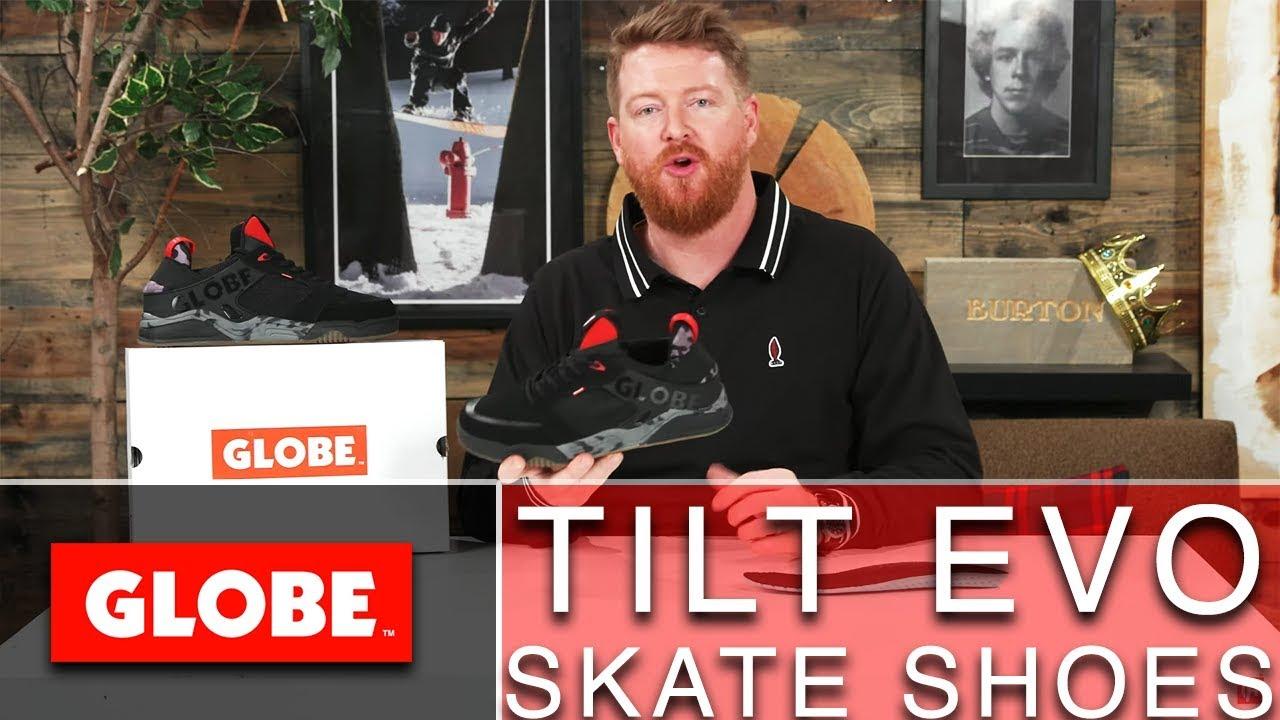 Globe Tilt Evo Skate Shoes - YouTube