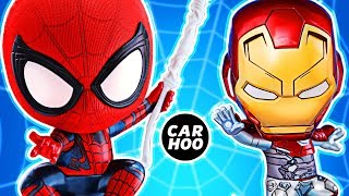 Unboxing Spider-man & Iron Man Cosbaby Hot Toys & Hot Wheels Cars