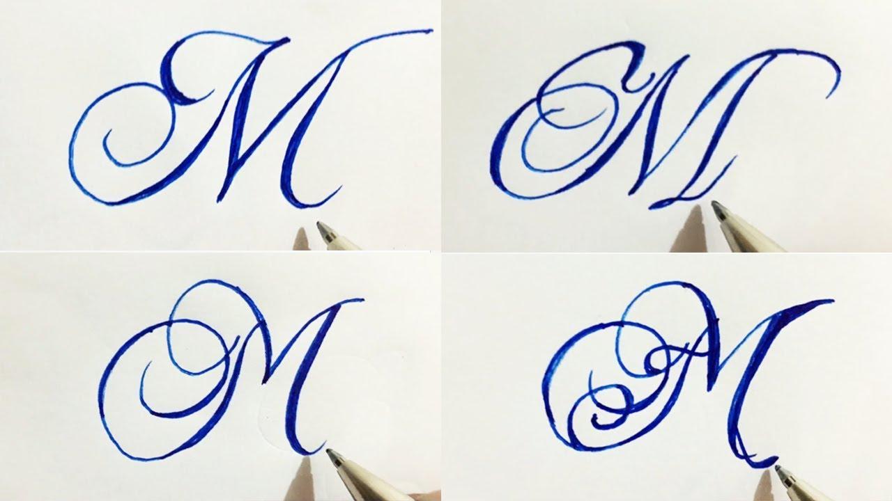 Stylish Cursive Handwriting Calligraph Capital Alphabetatoz in 18 styles of  M  Umar Calligraphy