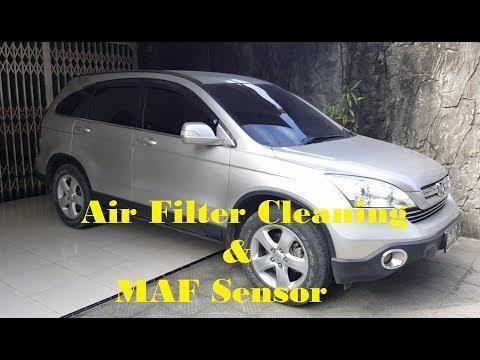 How to Maintain clean Air filter & MAF sensor // Honda CRV 2008