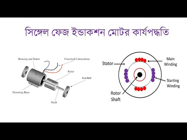 Single Phase Induction Motor Working Principle in bangla | সিঙ্গেল ফেজ ইন্ডাকশন মোটর কার্যপদ্ধতি