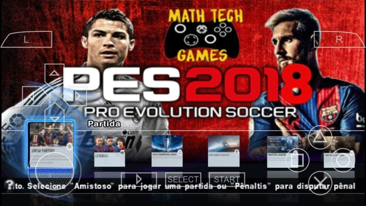 Pes 2018 Psp Ppsspp Review And Download Iso Youtube