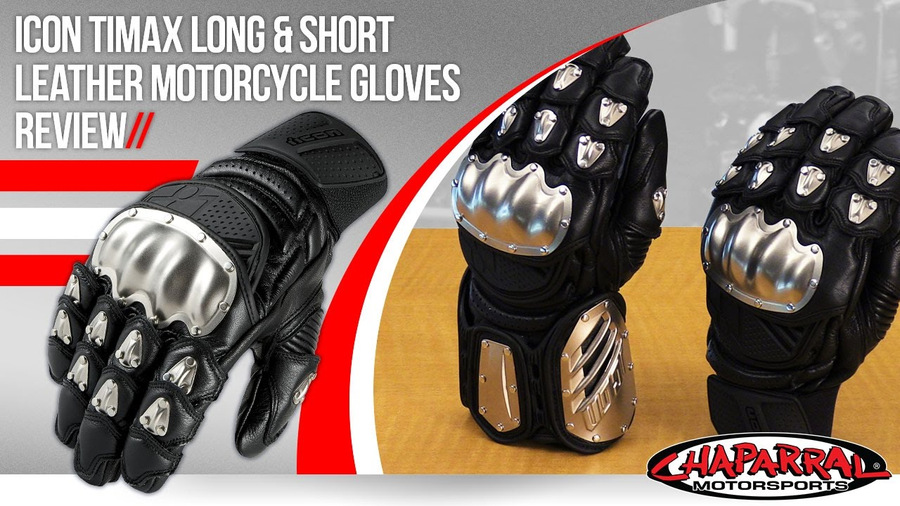 Motorcycle gloves ratings - Icon Timax Long And Short Leather Motorcycle Gloves Review