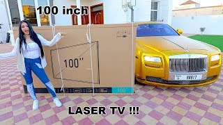 MY NEW 100 INCH LASER TV !!!
