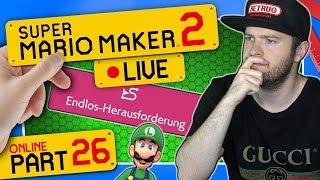 🔴 SUPER MARIO MAKER 2 ONLINE 👷 #26: Endlos-Herausforderung (Luigi) | Schwer