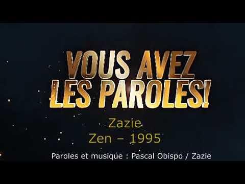 Download Zazie -  Zen -  Paroles lyrics -  VALP