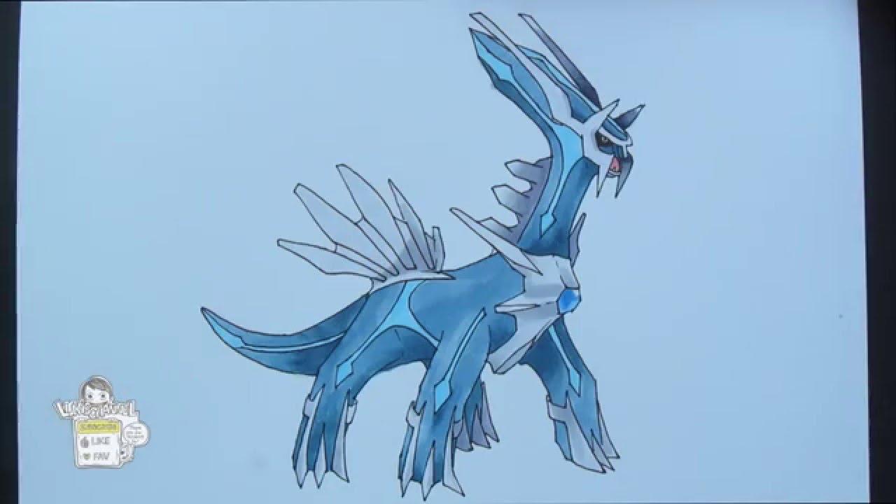 Drawing Pokemon: No. 483 Dialga ディアルガ - YouTube