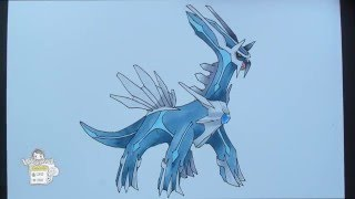 Drawing Pokemon: No. 483 Dialga ディアルガ