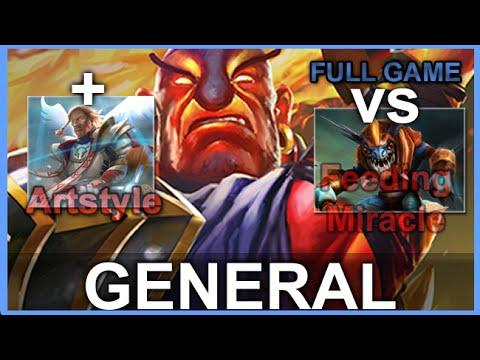 General Ember Spirit + Artstyle vs Miracle Full Game