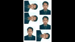 Wie erstellen Reisepass-Größe 6 kopieren Sie Fotos in 4 R Größe Bild in bangla tutorial