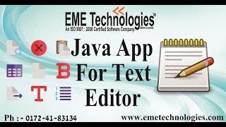 Text Editor App   Java