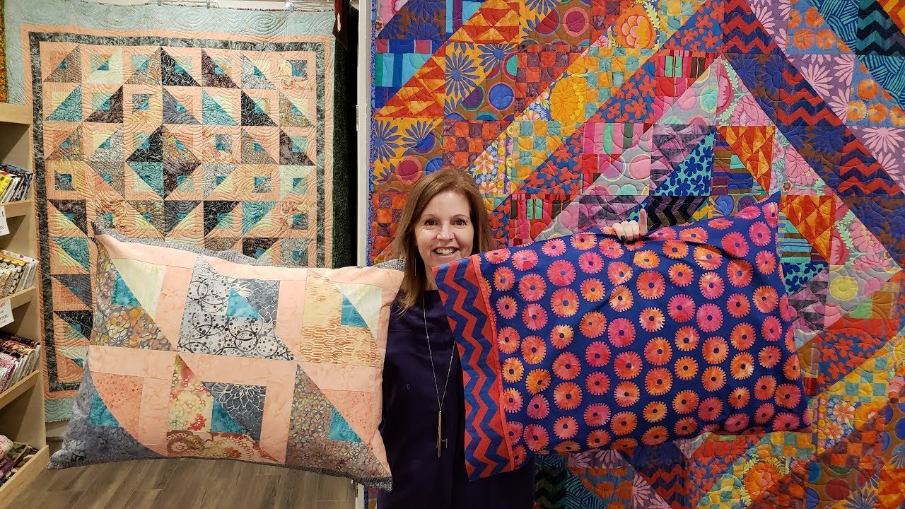1    2    3 Ways to Make your Pillows Match Any Quilt!!!