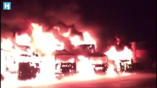 В Петербурге сгорели фуры на спецстоянках для дальнобойщиков