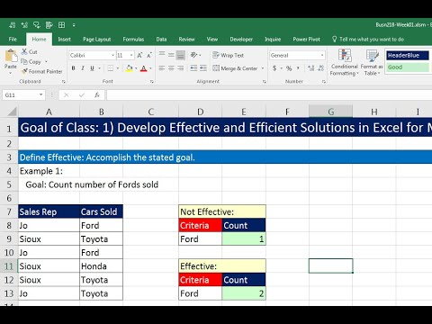 Highline Excel 2016 Class 01: Excel Fundamentals: Efficiency, Data, Data Sets, Formatting