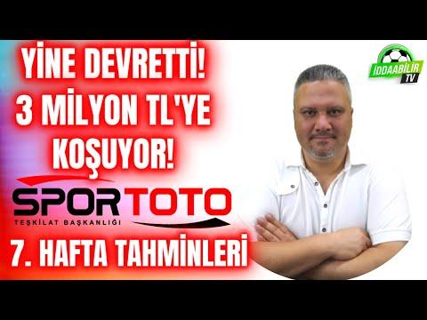 Yine Devretti! 3 Milyon TL'ye Koşuyor! Spor Toto 7. Hafta Tahminleri