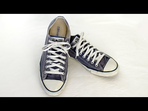 6740acac1be Old used Converse All Star Chuck Taylor shoes blue China - e310 - SOLD -  YouTube