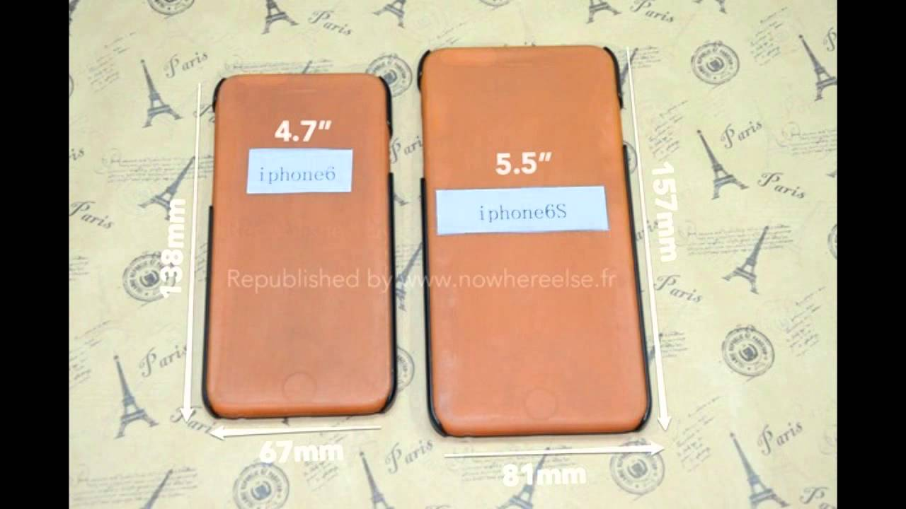 5.5 Inch iPhone 6 - Dimensions Detailed In New Case Leak ...
