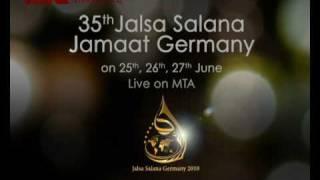 Advertisement of the 35th Jalsa Salana Jamaat Germany - Short Version