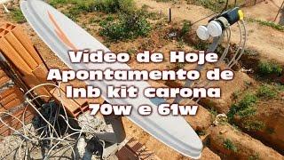 Instalação do lnb kit carona star one c2 70w + amazonas 61w