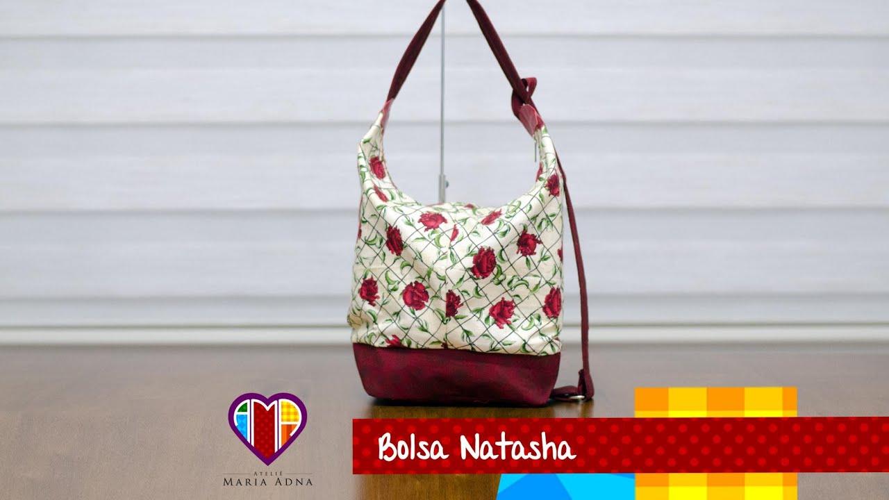 Vídeo da mochila de tecido Natasha. DIY. Fabric backpack ...