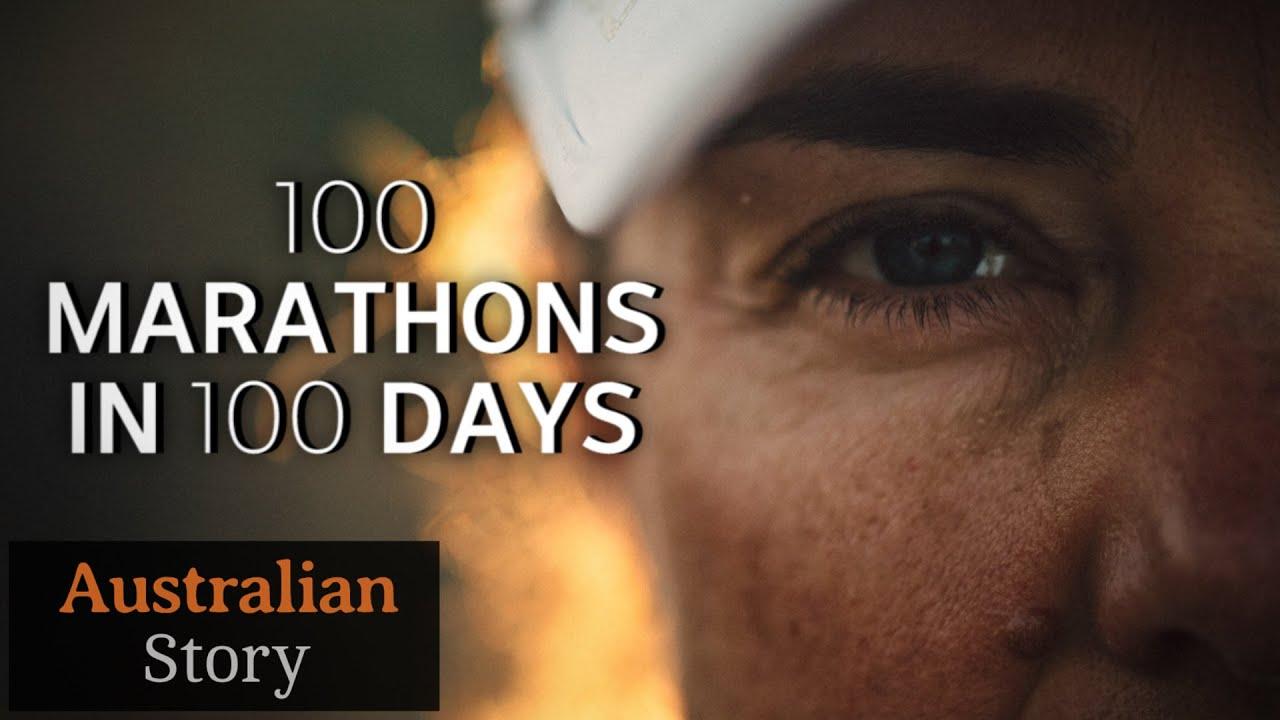 034639aeed 100 marathons in 100 days: Mina Guli's mission for water   Australian Story