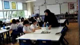 Earthquake early warning drill in Tokyo school