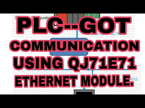 PLC TO GOT Communication via Ethernet  network by using QJ71E71-100 network module .