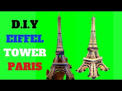 How To Make The Eiffel Tower( night vision) With A4 Size Paper. Time - Lapse