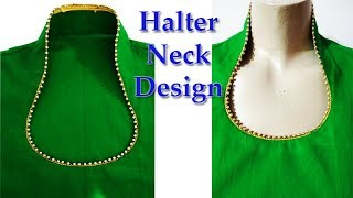 Halter neck design cutting and stitching for kurti / Suit / Kameez in Hindi