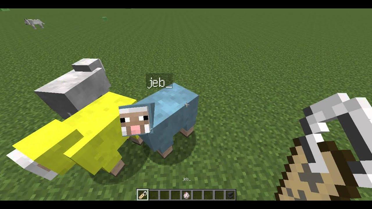 Как сделать радужную овцу в майнкрафт фото 37