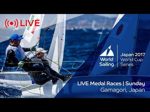 LIVE Sailing | World Cup Series Gamagori | Medal Races | Sunday October 22