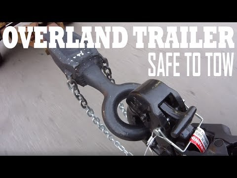 Lunette ring and pintle hook to tow - Overland Trailer Ep4