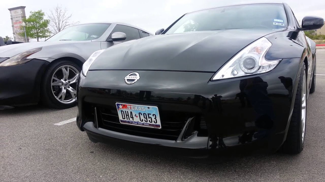Nissan 370z with Hidden Show And Go License Plate - YouTube