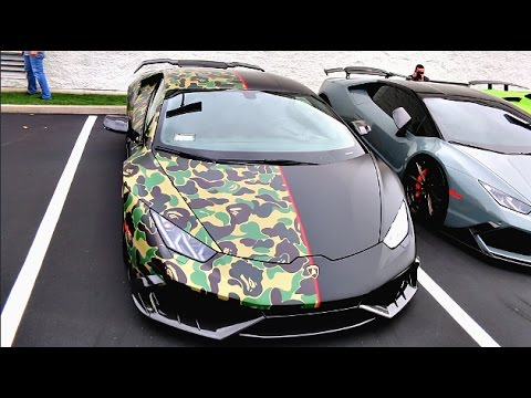 The Worlds First Bape Lamborghini Huracan Youtube