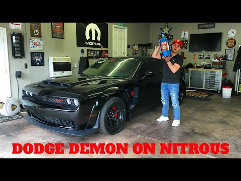 DODGE DEMON GETS NITROUS!! **FIRST ONE**
