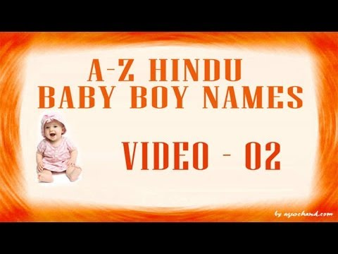 A to Z Hindu Baby Boy Names with Meanings...