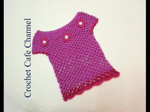 f50f0ce39  كروشيه بلوزة بناتى سهلة | #كروشيه كافيه_Crochet Cafe# - YouTube