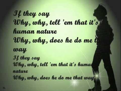 Human Nature Why Why Why Lyrics