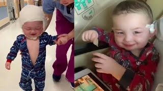 Toddler Excited to Take 1st Steps After Skull Surgery