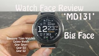 Watch Face Review : MD131 Samsung Galaxy Watch Gear S3 Gear Sport Gear S2