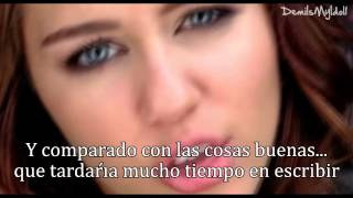 Miley Cyrus - 7 Things (Traducida al español) HD