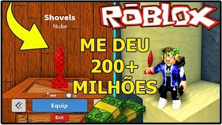 NEW ITEM GAVE ME 200 + MILLION IN TREASURE HUNT SIMULATOR (NUKE)!! ROBLOX