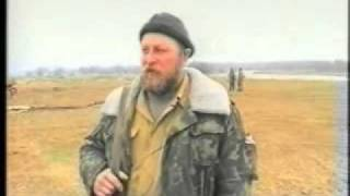 Казаки из батальона им. Ермолова в Чечне