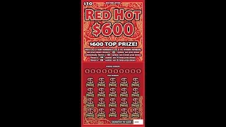 $10 - RED HOT $600 - NEWER! Lottery Bengal Scratch Off tickets  NEWER!!